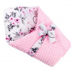 Zestaw 10 cz. pierniki szare na białym z różowym